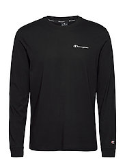 Long Sleeve Crewneck T-Shirt - BLACK BEAUTY
