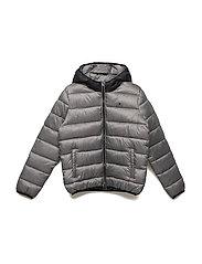 Hooded Jacket - GRAY MELANGE DARK