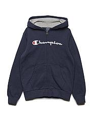 Hooded Full Zip Sweatshirt - BLACK IRIS