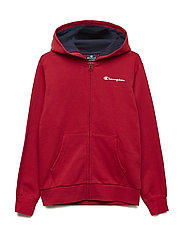 Hooded Full Zip Sweatshirt - TRUE RED