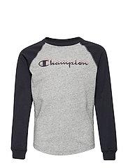 Long Sleeve Crewneck T-Shirt - NEW OXFORD GREY MELANGE