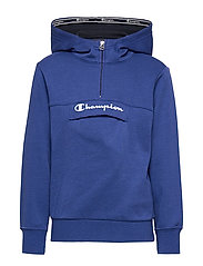 Half Zip Hooded Sweatshirt - MAZARINE BLUE