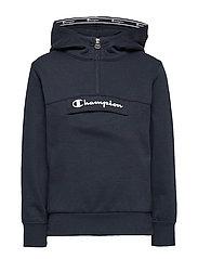 Half Zip Hooded Sweatshirt - SKY CAPTAIN
