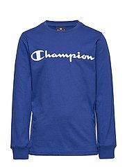 Crewneck Long Sleeve T-Shirt - MAZARINE BLUE