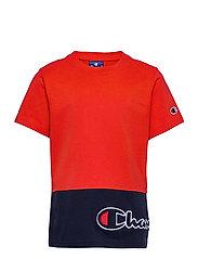 Crewneck T-Shirt - FLAME SCARLET
