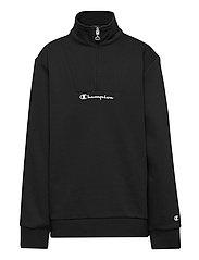 Half Zip Sweatshirt - BLACK BEAUTY