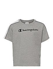 Crewneck T-Shirt - GRAY MELANGE LIGHT