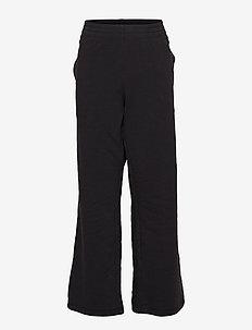 Straight Hem Pants - BLACK BEAUTY