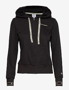 Hooded Full Zip Sweatshirt - BLACK BEAUTY