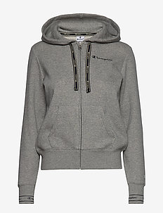 Hooded Full Zip Sweatshirt - GRAY MELANGE LIGHT