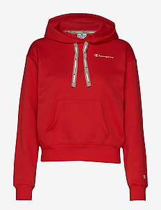 Hooded Crop Top - POPPY RED