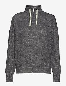 Full Zip Sweatshirt - NEW CHARCOAL GREY MELANGE DARK