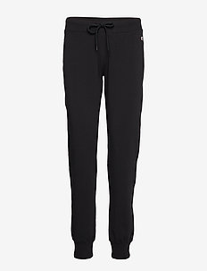 Rib Cuff Pants - BLACK BEAUTY