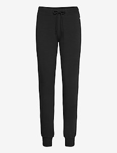 Rib Cuff Pants - hosen - black beauty