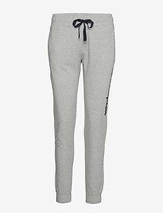 Elastic Cuff Pants - GRAY MELANGE LIGHT