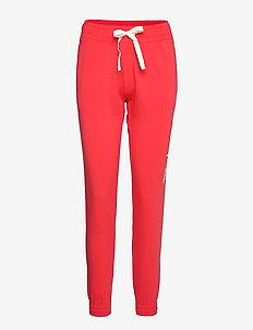 Elastic Cuff Pants - POPPY RED