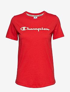 Crewneck T-Shirt - POPPY RED
