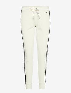 Rib Cuff Pants - WHITE ASPARAGUS