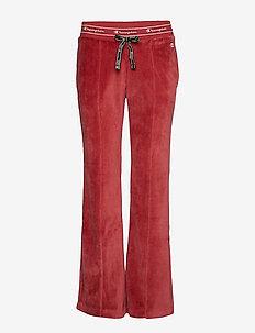 Straight Hem Pants - BIKING RED