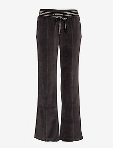 Straight Hem Pants - BLACK BEAUTY