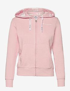 Hooded Full Zip Sweatshirt - hoodies - parfait pink