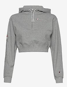 Hooded Sweatshirt - crop-topit - graphite grey melange jasp