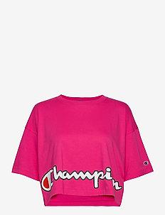 Crewneck T-Shirt - navel shirts - beetroot purple