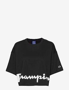 Crewneck T-Shirt - crop-tops - black beauty