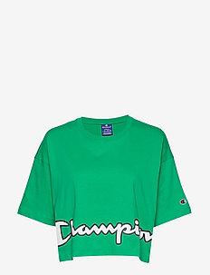 Crewneck T-Shirt - crop-tops - mint