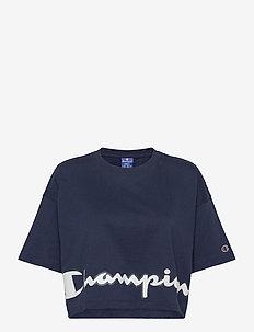 Crewneck T-Shirt - któtkie bluzki - navy blazer