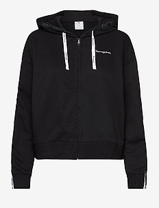 Hooded Full Zip Sweatshirt - hættetrøjer - black beauty
