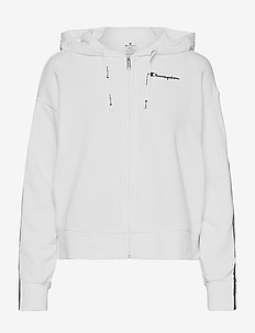 Hooded Full Zip Sweatshirt - kapuzenpullover - white