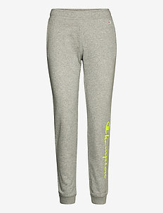 Rib Cuff Pants - pants - gray melange light