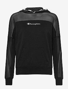 Hooded Sweatshirt - bluzy z kapturem - black beauty