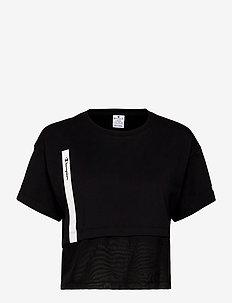 Crewneck T-Shirt - sportoberteile - black beauty
