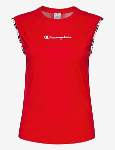 Crewneck Sleeveless T-Shirt - urheilutopit - high risk red