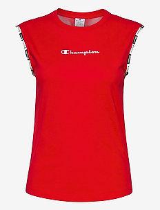 Crewneck Sleeveless T-Shirt - sportoberteile - high risk red