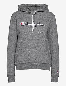 Hooded Sweatshirt - kapuzenpullover - dark graphite grey melange jaspΦ top dyed