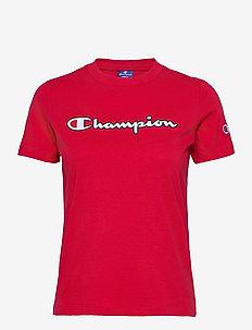 Crewneck T-Shirt - sportoberteile - lipstick red