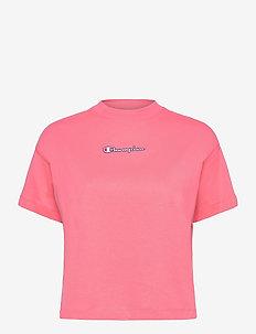Crewneck T-Shirt - sportoberteile - strawberry pink