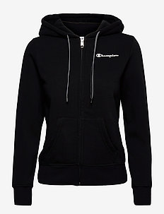 Hooded Full Zip Sweatshirt - hettegensere - black beauty