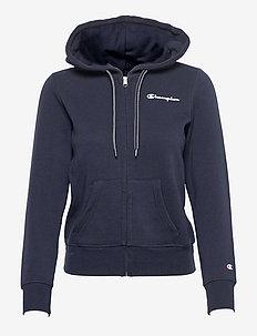 Hooded Full Zip Sweatshirt - hupparit - sky captain