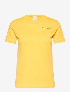 Crewneck T-Shirt - sportieve tops - cream gold