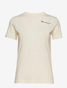 Crewneck T-Shirt - sportoberteile - papyrus