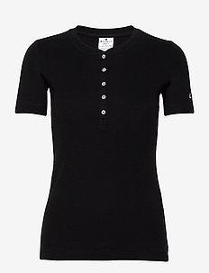 Crewneck T-Shirt - sports tops - black beauty