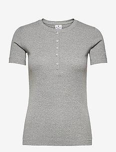 Crewneck T-Shirt - sports tops - gray melange light