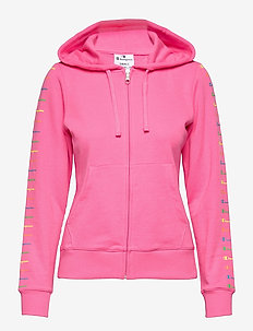 Hooded Full Zip Sweatshirt - hettegensere - knochout pink fluo