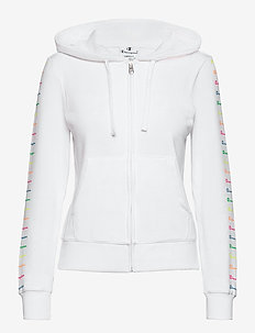 Hooded Full Zip Sweatshirt - hettegensere - white