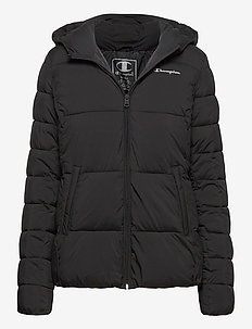 Hooded Polyfilled Jacket - isolerande jackor - black beauty