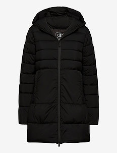 Hooded Polyfilled Jacket - parkas - black beauty